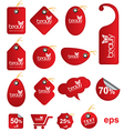 Red tag for sale and promotion vector image vector image