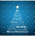 Christmas background with Christmas tree full of vector image