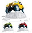 offroad 4x4 vector image vector image