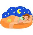woman dreams vector image