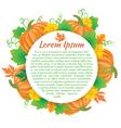 Pumpkin composition vector image