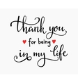 Romantic thanks lettering vector image