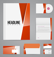 branding design template vector image