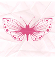 Butterfly-blot on crumpled paper vector image