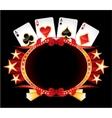 Casino neon vector image