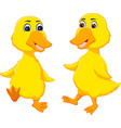 cute baby duck cartoon dancing with smile vector image