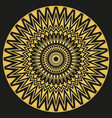 golden ornament mandala for business printing vector image