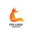 modern fox logo and emblem vector image