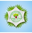 Organic Natural Ecology stickers vector image