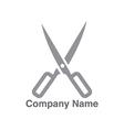 Salon scissors logo vector image