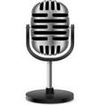 Vintage retro microphone vector image