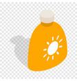 cream sun protection isometric icon vector image