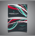 business card template with flowing lines design vector image