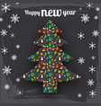 happy new year decorative template vector image