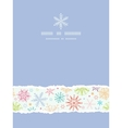 Colorful Doodle Snowflakes Vertical Torn Frame vector image vector image