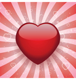 heart on retro background vector image vector image