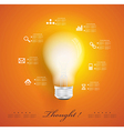 Creative light bulb with application icons vector image vector image