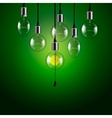 Idea concept Light bulbs background vector image