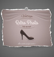 Female shoe on background vector image vector image