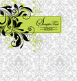 damask invitation floral card vector image vector image
