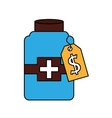 bottle drug isolated icon vector image