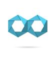 Hexagon infinity logo vector image