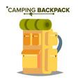 hiking backpack tourist hiking back pack vector image
