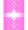 pink vintage vector image