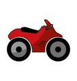 quad motorcycle icon vector image