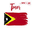 timor flag brush strokes painted vector image