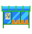 modern bus stop with glass canopy and plastic vector image