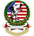 logo with dalmatians vector image vector image