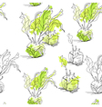 seamless pattern with celery vector image vector image
