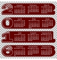 calendar 2016 concave contour figures Monday vector image