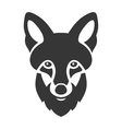 Fox Head Ligi Icon on White Background vector image