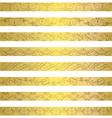 Gold element border designs vector image