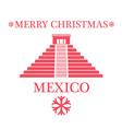 Greeting Card Mexico vector image