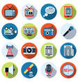 News flat icons vector image