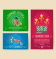 pyrotechnics show posters vector image