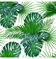 seamless hand drawn realistic botanical exotic vector image