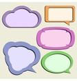 Set of paper speech bubbles vector image
