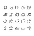 steel material products line icons steel vector image