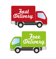 truck fast and free delivery vector image