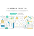 elegant thin line flat modern Career and vector image
