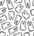 doodle teeth pattern seamless vector image vector image
