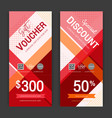 modern gift voucher on colorful background for vector image