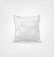 Blank white mock-up cushion or pillow for design vector image