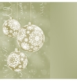 Elegant Christmas balls on abstract  EPS 8 vector image