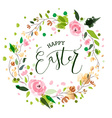 Easter postcard card invitation flyer banner vector image