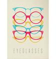 Fashion hipster glasses concept color design vector image